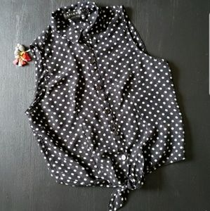 Derek heart polka dot tank top